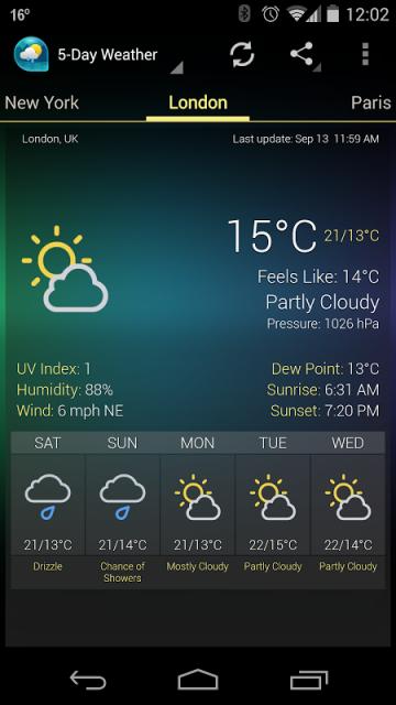 скачать приложение на андроид погода