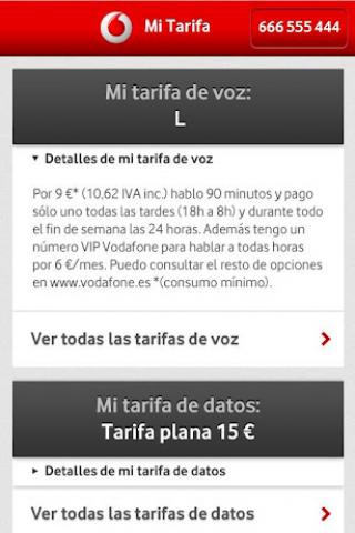 Mi Vodafone Screenshot