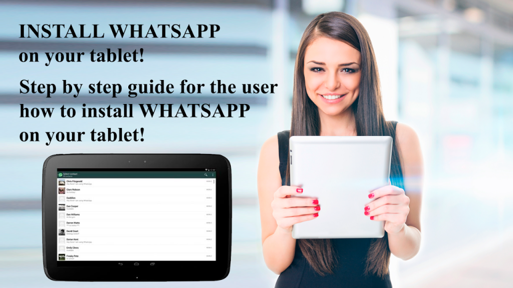 How to download whatsapp on samsung tablet