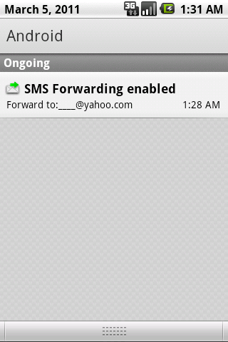SMS Forwarding Setting Screenshot