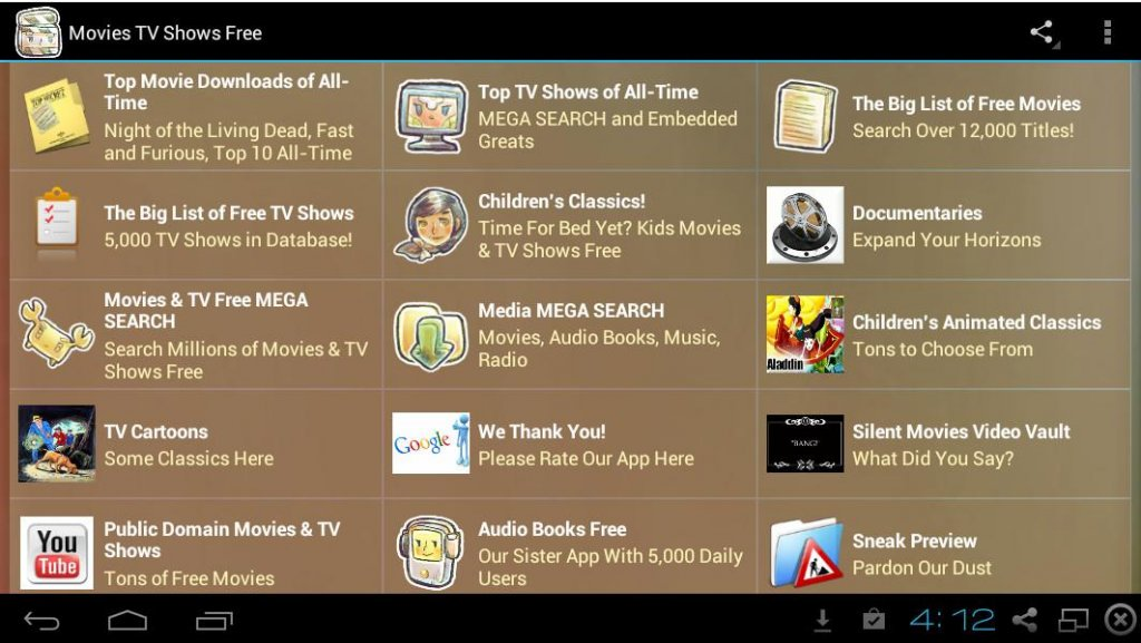 List Of Free Tv Downloads For Android