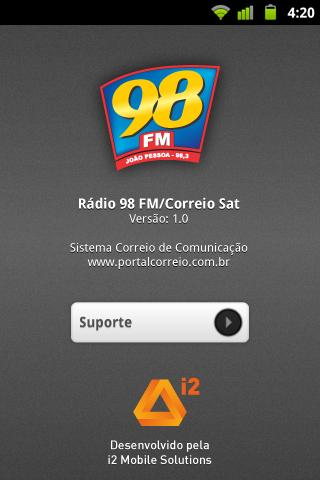 Rádio 98 FM Correio SAT Screenshot