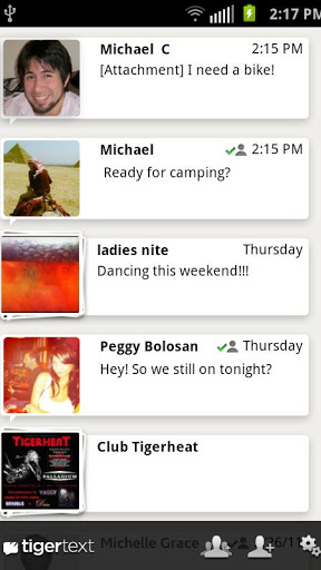 TigerText Free Private Texting screenshot 1