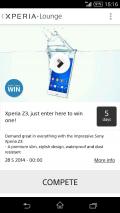 Xperia™ LOUNGE Screenshot