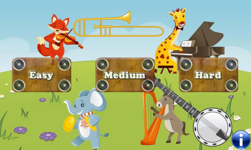 音乐游戏的孩子乐器