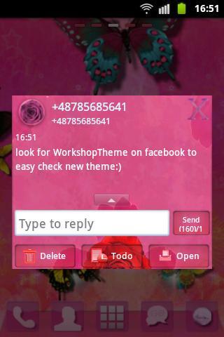 短信主题粉红色的玫瑰可爱