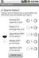 Taxa de Álcool no Sangue Screenshot