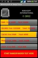 MemoryInfo & Swapfile Check Screenshot