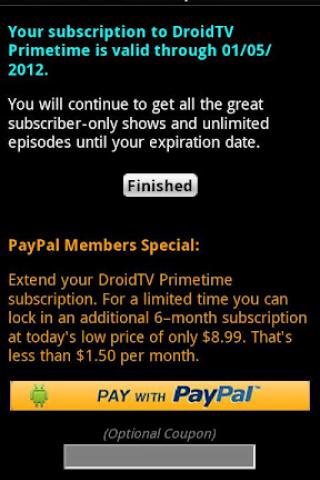 DroidTV Primetime screenshot 1