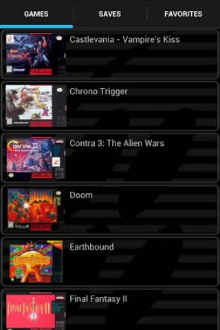 SuperGNES Lite (SNES emulador) Screenshot