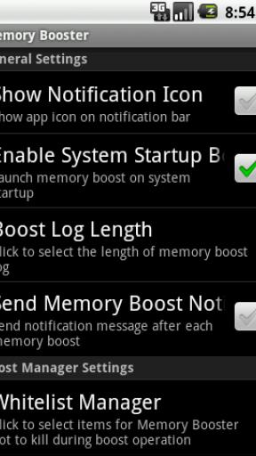 Memory Booster (Full Version) screenshot 4