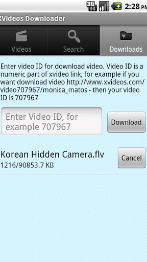 XVideos Downloader Screenshot