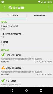 Dr.Web Anti-virus Light (free) screenshot 20