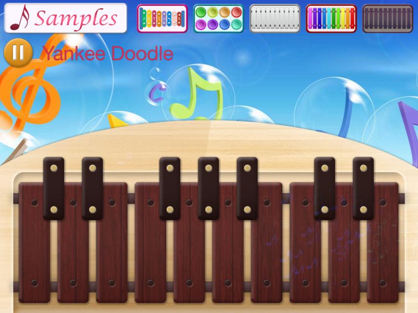 """孩子们的音乐:木琴,鼓和钢琴为您的智能手机或平板电脑! 孩子们的音乐:木琴,鼓和钢琴是很容易发挥。 这是一个美妙的方式来学习音乐的基本知识。 产品特点: - 真实的声音 - 样本的歌曲重播 - 不同的节奏为背景 - 高清显卡 - 完全支持多点触控 - 支持所有屏幕分辨率 </div> <div class=""""show-more-end"""">"""