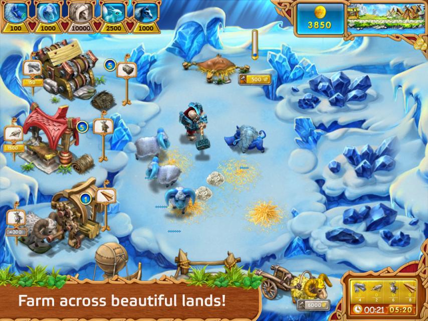 Скачать Весёлая Ферма: Викинги / Farm Frenzy: Vikings (2013) Android беспла
