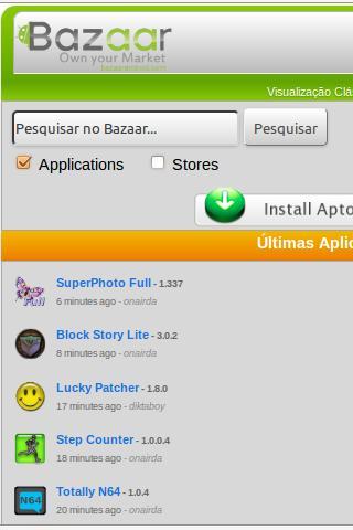 Bazaar News & Aptoide install Screenshot