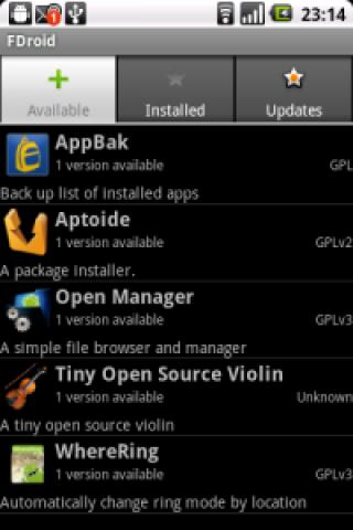 FDroid Screenshot