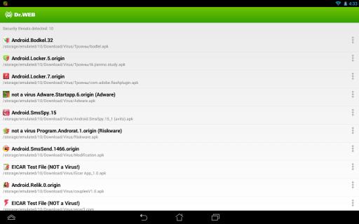 Dr.Web Anti-virus Light (free) screenshot 7