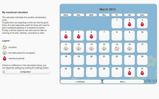 Calculadora menstrual Android