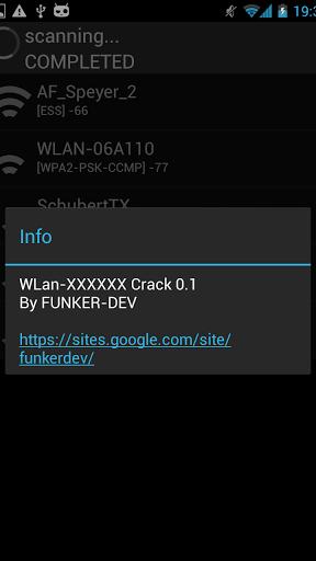 WLAN-XXXXXX WIFI CRACK Screenshot