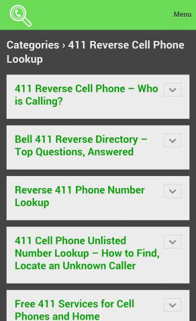 mobile phone search engines