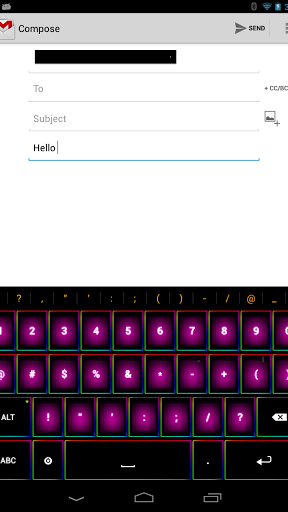 Rainbow Keyboard Screenshot