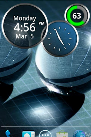 Rings Digital Weather Clock Screenshot