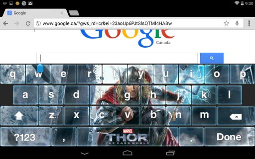 Thor: The Dark World Keyboard screenshot 1