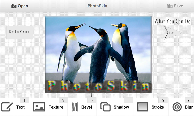PhotoSkin Montage effets Photo pour Android
