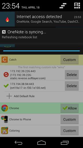 NoRoot Firewall Screenshot
