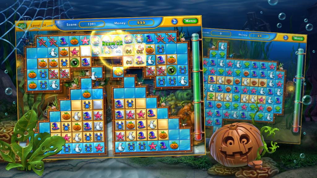 Fishdom Spooky - Замечательная игрушка которая представляет из себя классно