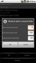 Medication alarm clock Screenshot